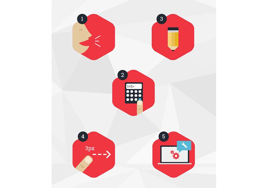 De Agency - Flat UI design concept