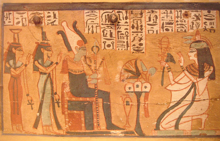 Ancient Egyptian painting Image by By Sahprw - Own work CC BY-SA 40