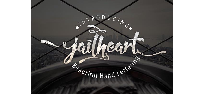 Jailheart hand typeface