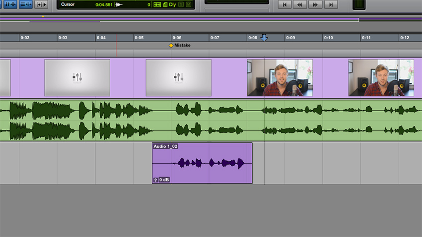 Adding a marker in Pro Tools