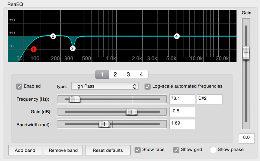 Adding a high pass filter to remove low end noise