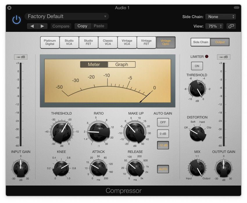 Applying compression in Logic Pro X