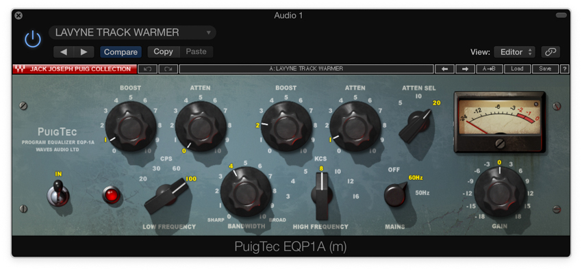 Adding warmth with a Pultec style EQ