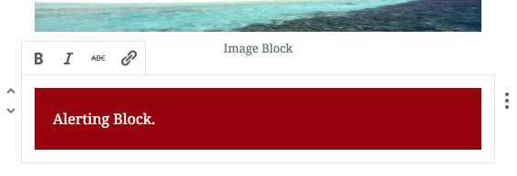 Alert Block in the Gutenberg Editor