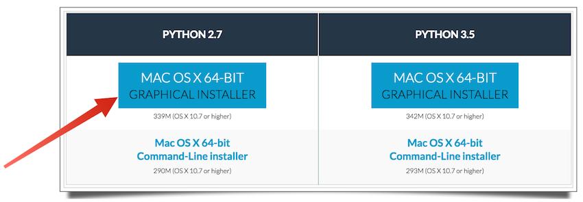 Anaconda Mac OS X graphical installer