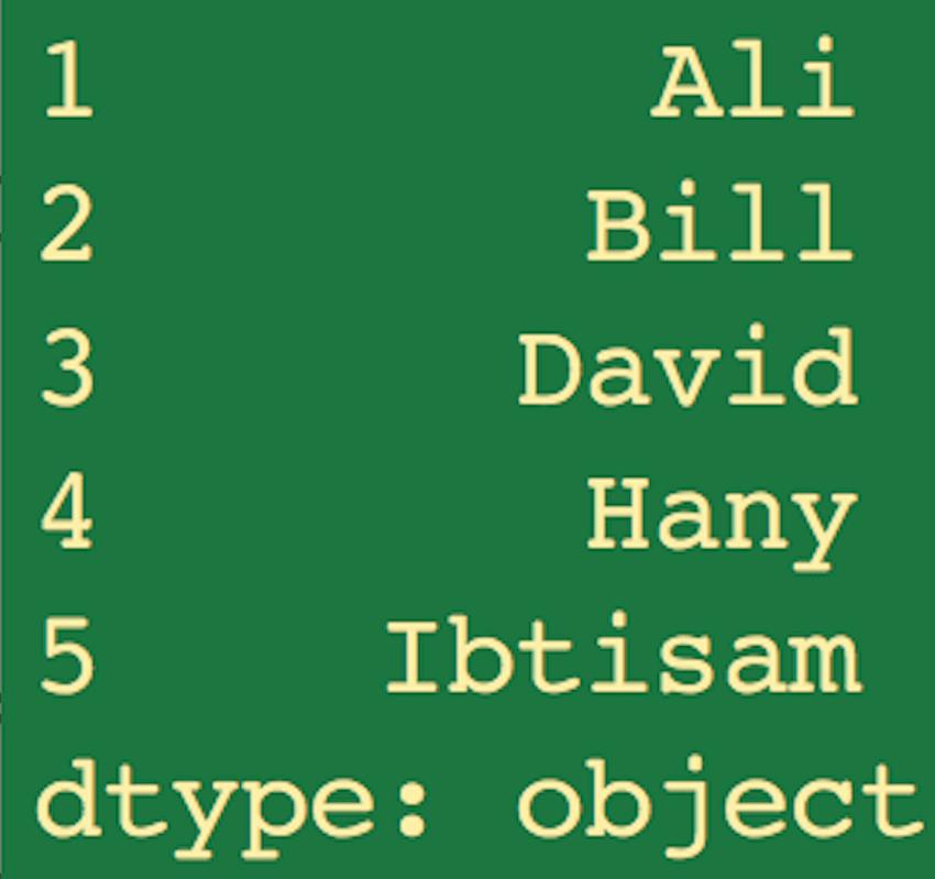 Series output