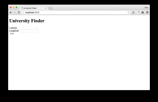 Basic form screenshot