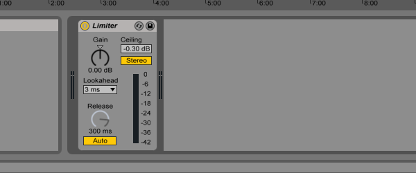 Ableton Limiter on the master channel