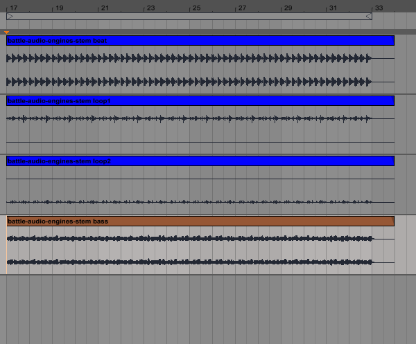 Ableton Suite using the stems