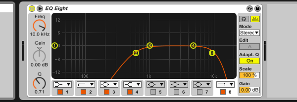 Beatbox loop EQ settings