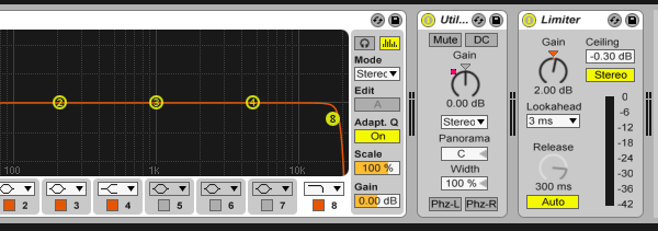 Master effects chain