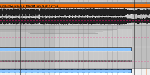 Body of Conflict sound clip loaded to timeline