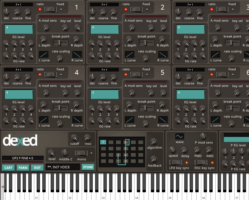 Dexed synth