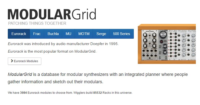 Modulargrid website