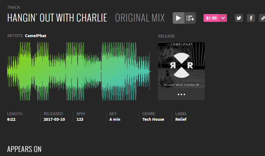 Beatport Screenshot