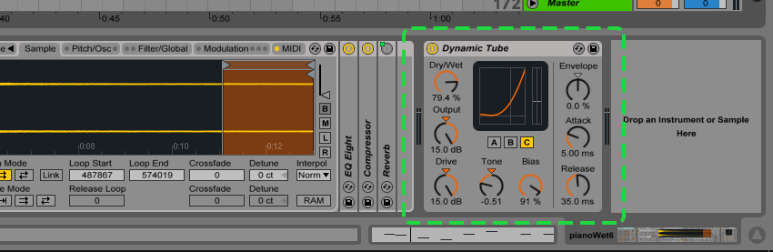 Ableton Dynamic Tube