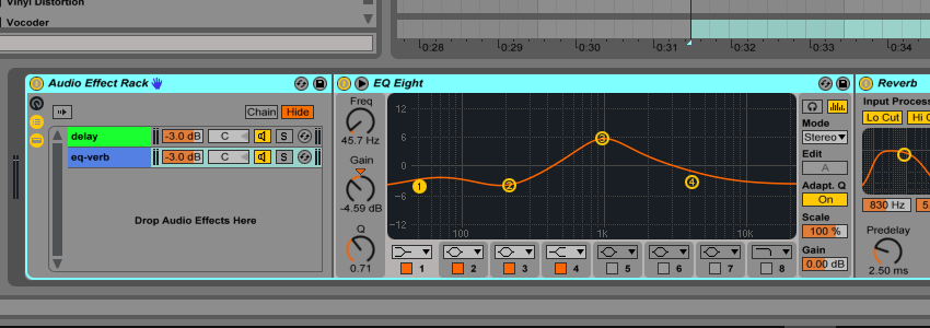 Second Effect Rack in Ableton