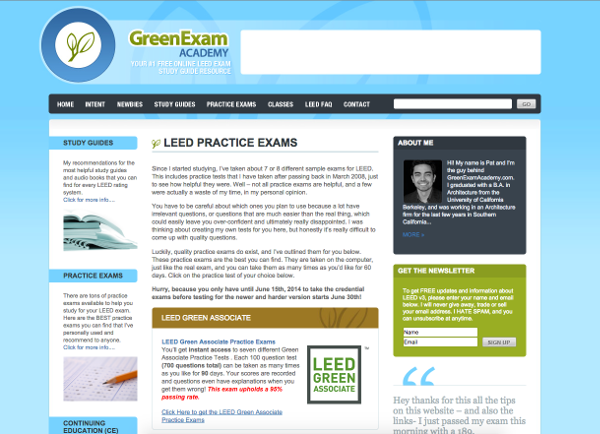 Green Exam Extension Page