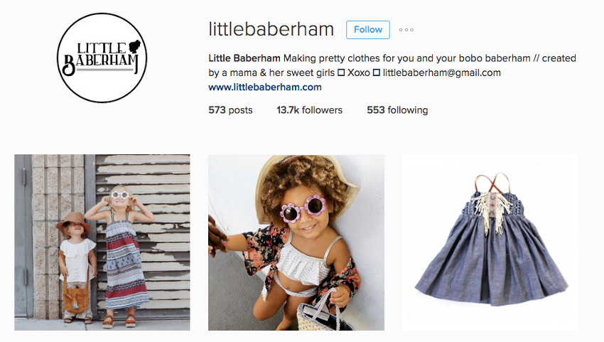 Little Baberham on Instagram