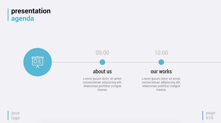 Simplicity simple timeline slide