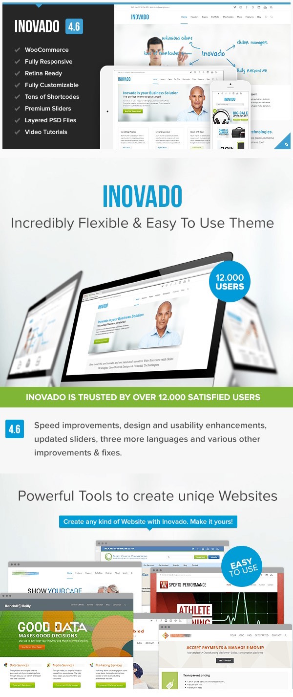 Inovado Flexible WP Business Theme