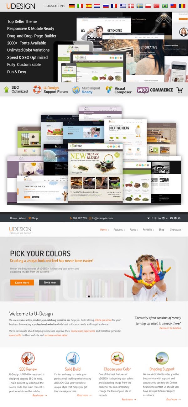 uDesign Corporate WordPress Theme