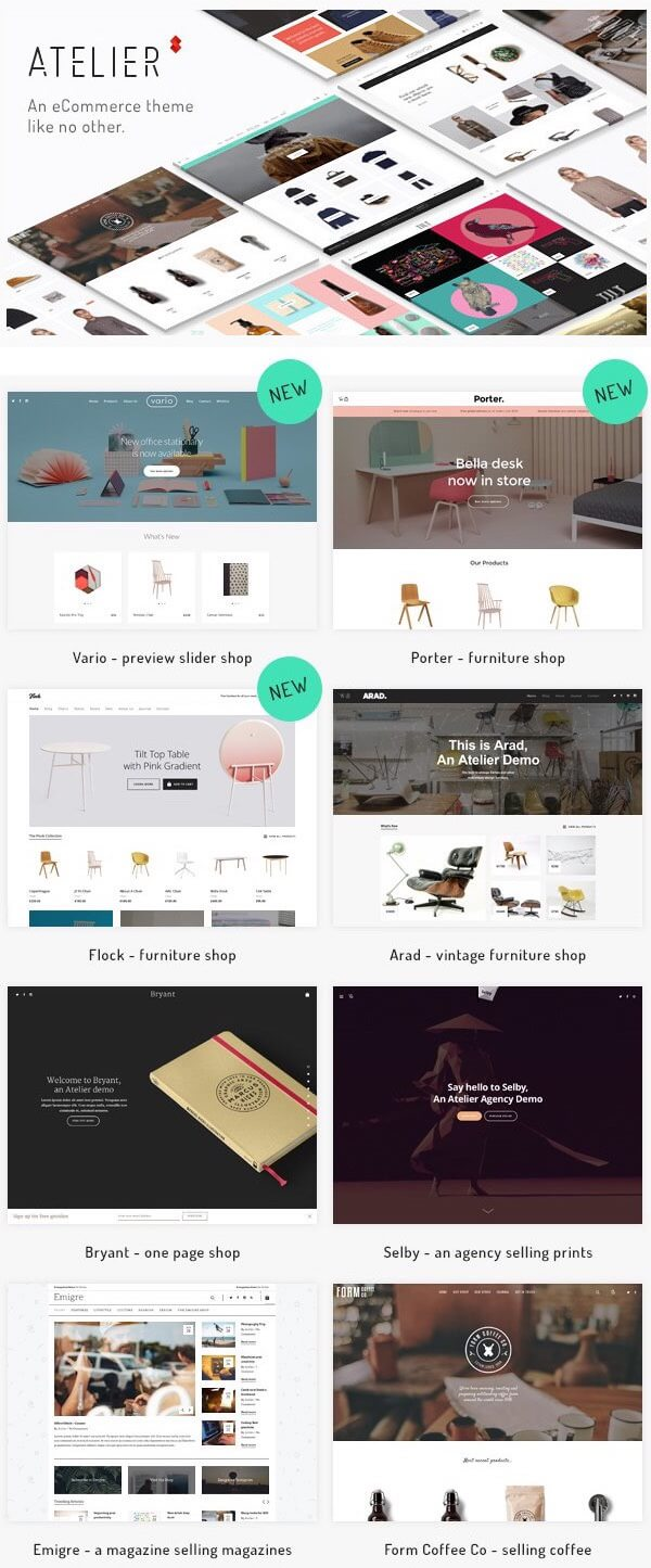 Atelier - Creative Best WordPress Theme