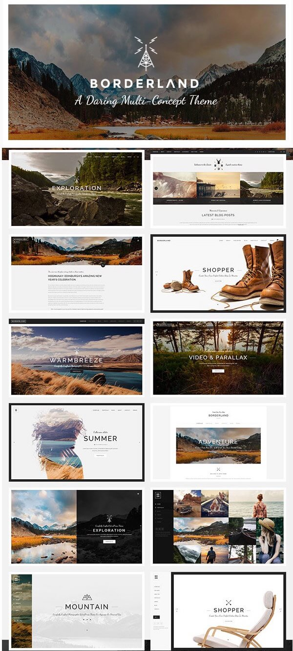 Borderland - Best WordPress Theme