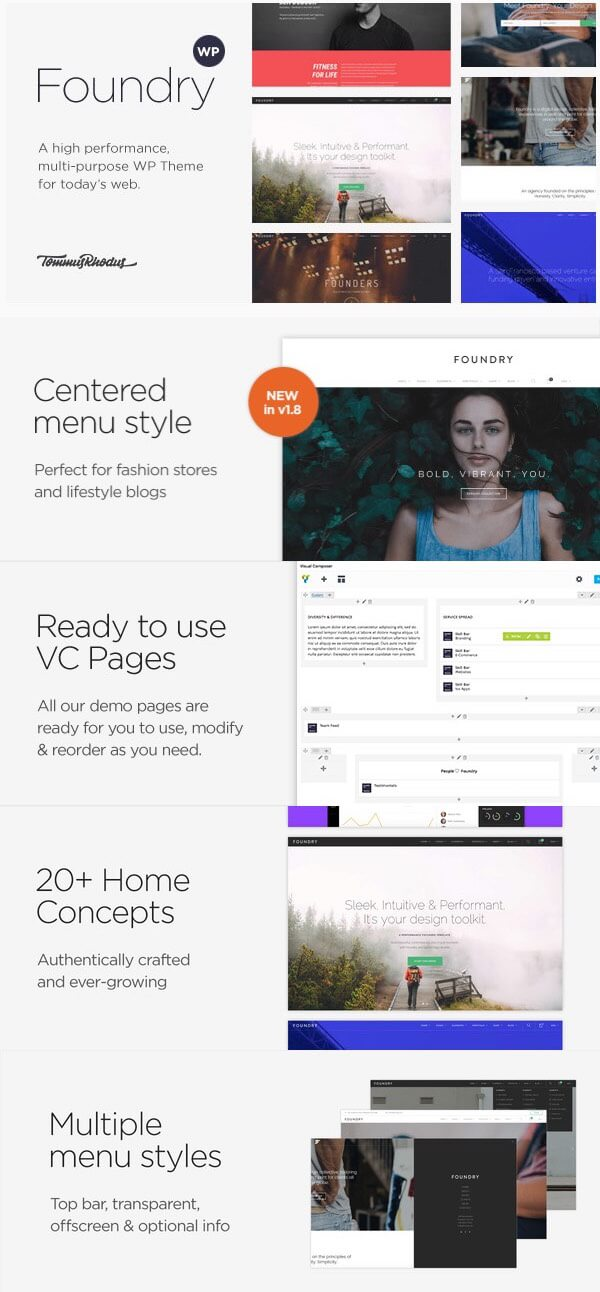 Foundry - Highly-Flexible Wordpress Portfolio Theme