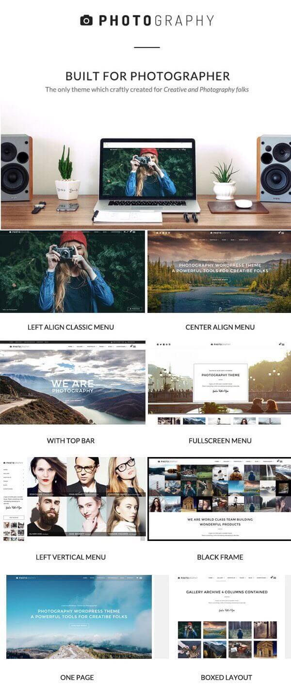 Photography - Photography WordPress Portfolio Theme