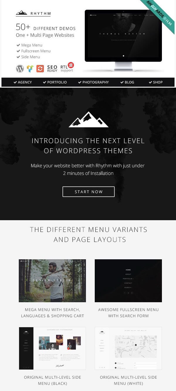 Rhythm - Best Portfolio WordPress Theme