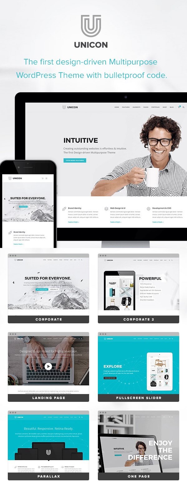 Unicon - Creative WordPress Portfolio Theme