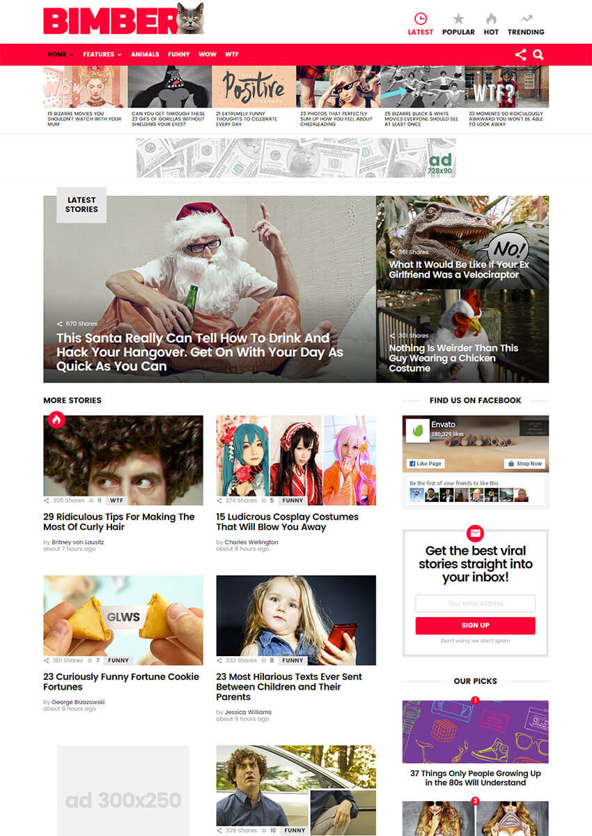 Bimber - Viral  Buzz WP Theme
