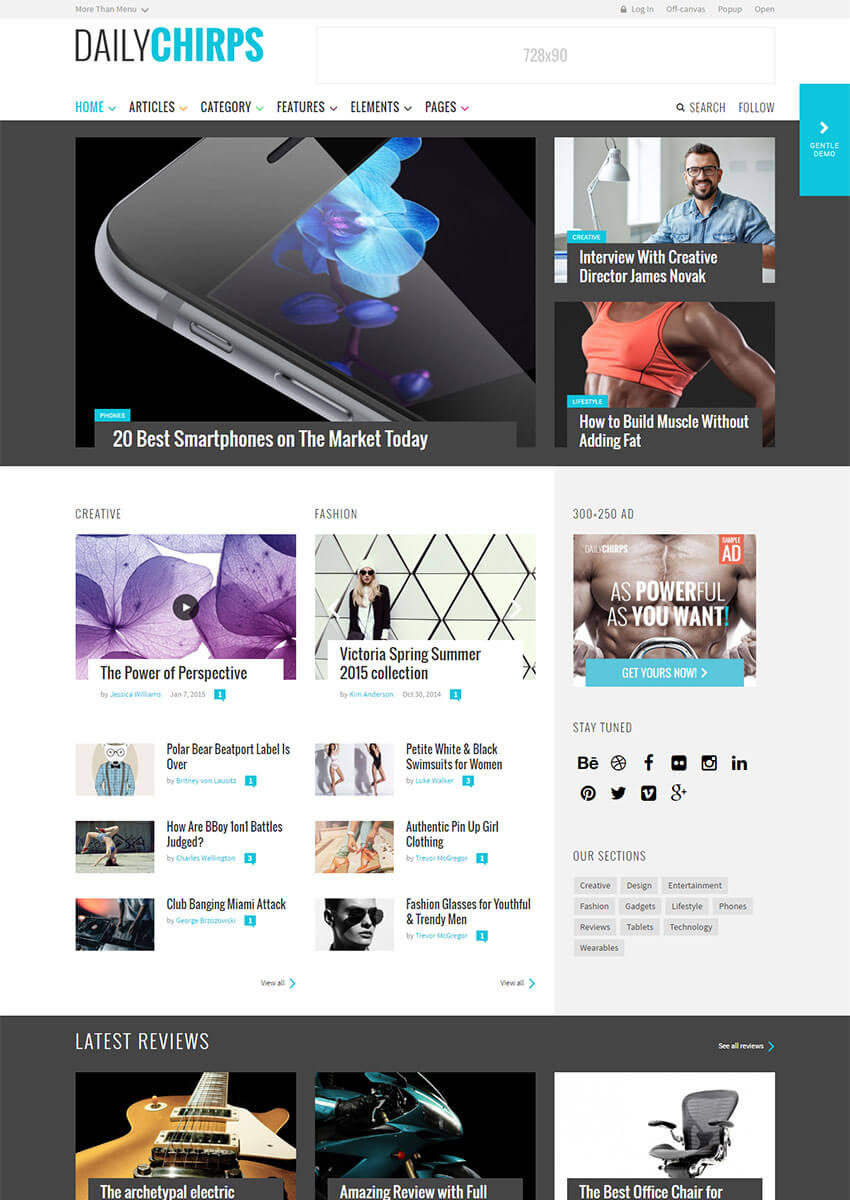 Chirps - Flexible WordPress Magazine Theme