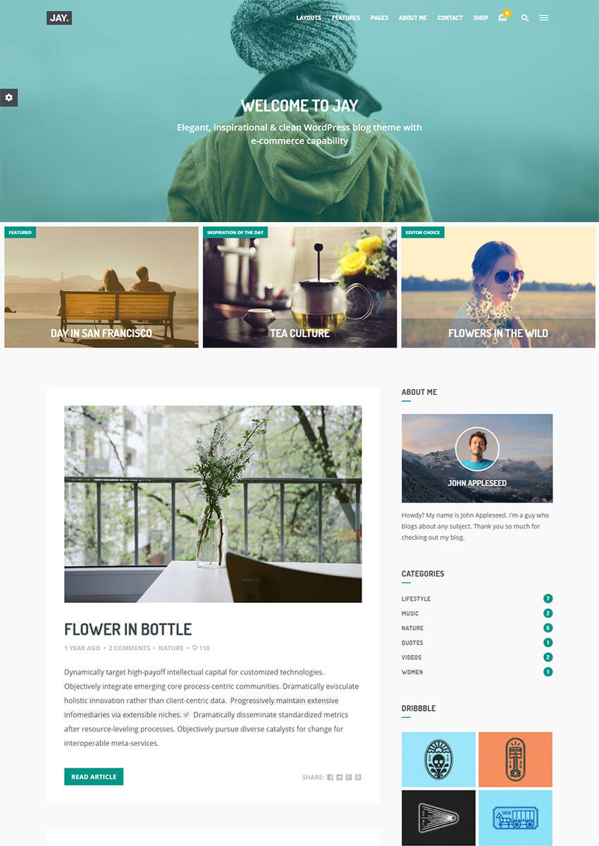 Jay - Elegant WordPress Blog Theme