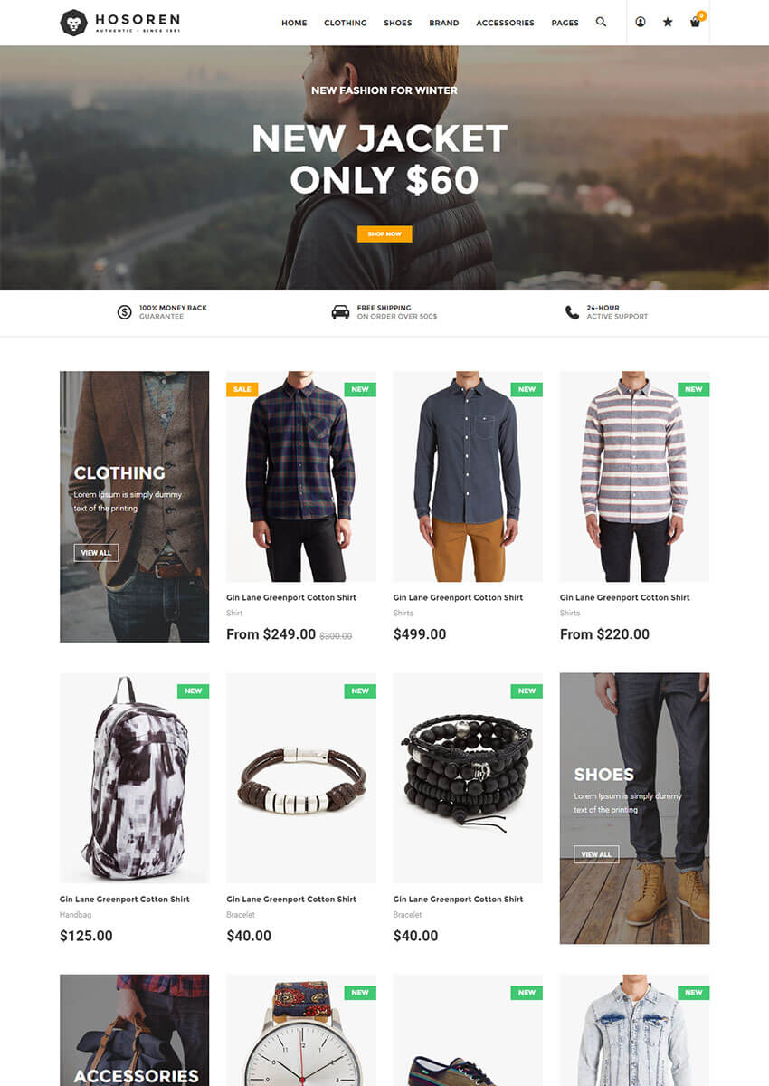 Hosoren Stylish Shopify Template