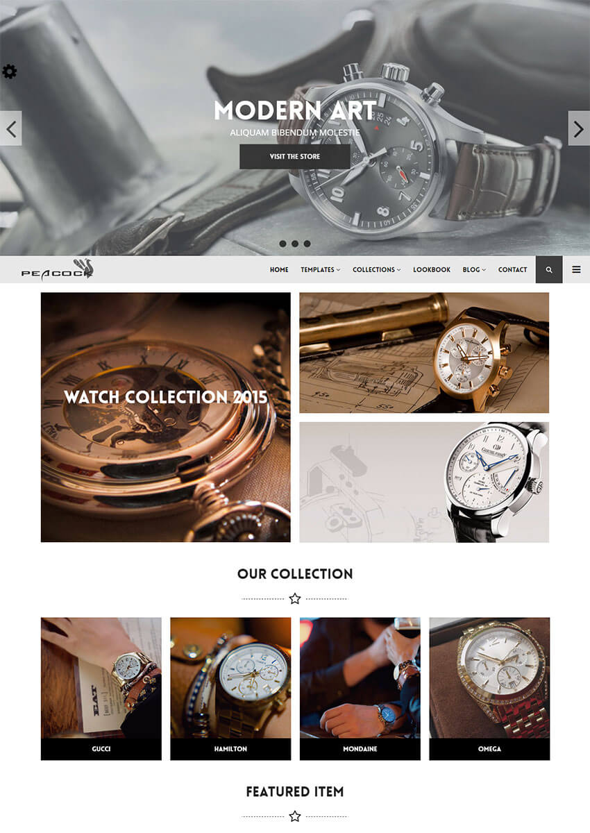 Peacock Responsive Shopify Theme