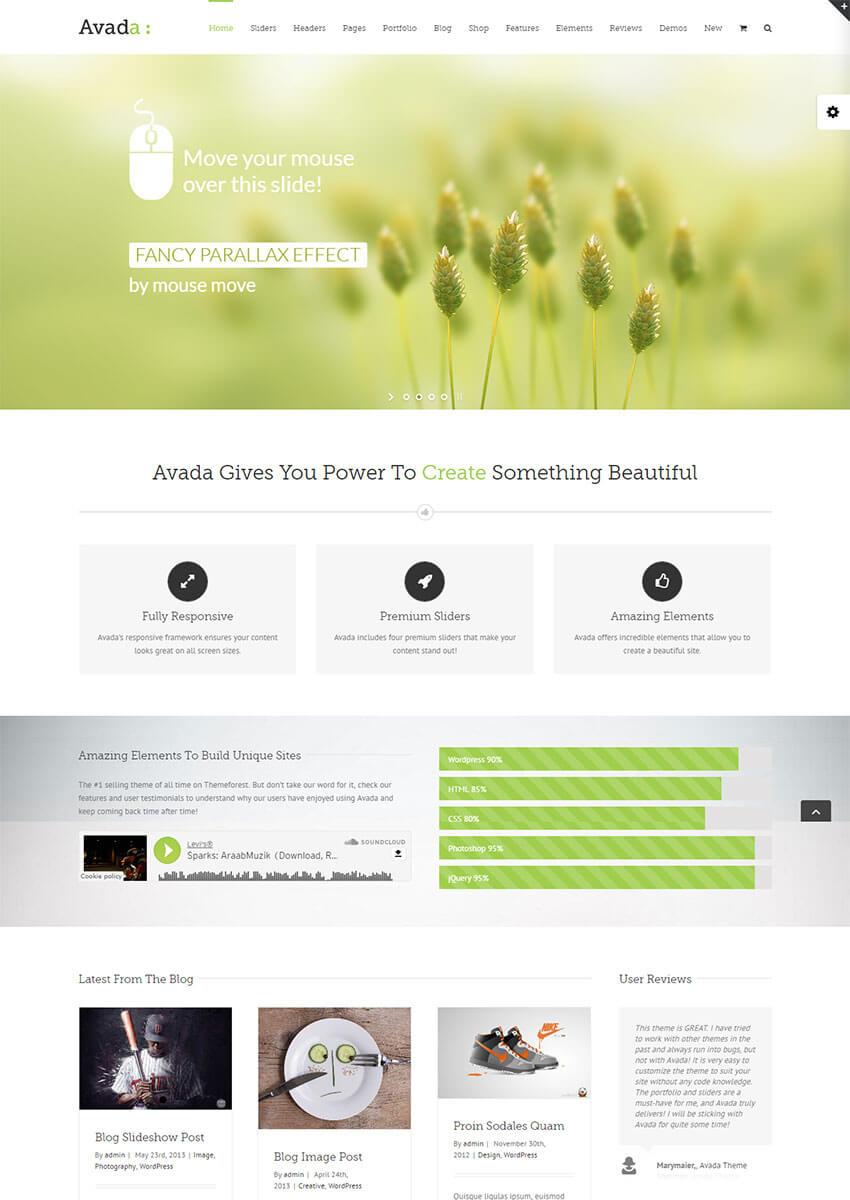 Avada WordPress Theme on ThemeForest Envato Market