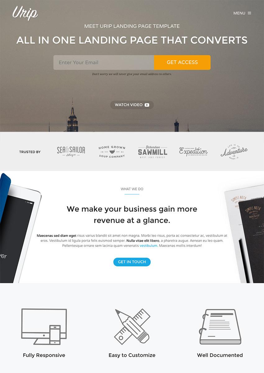 Urip - Professional WordPress Landing Page