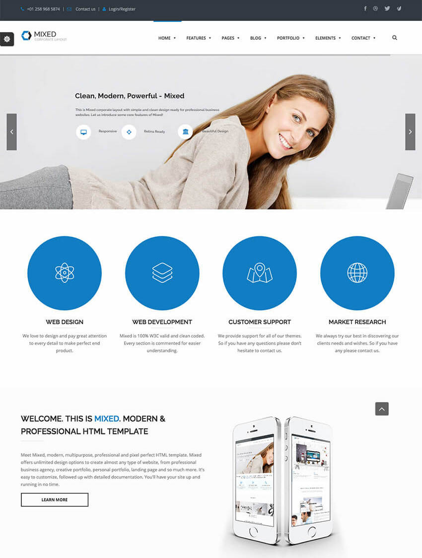 Mixed - Modern WordPress Theme