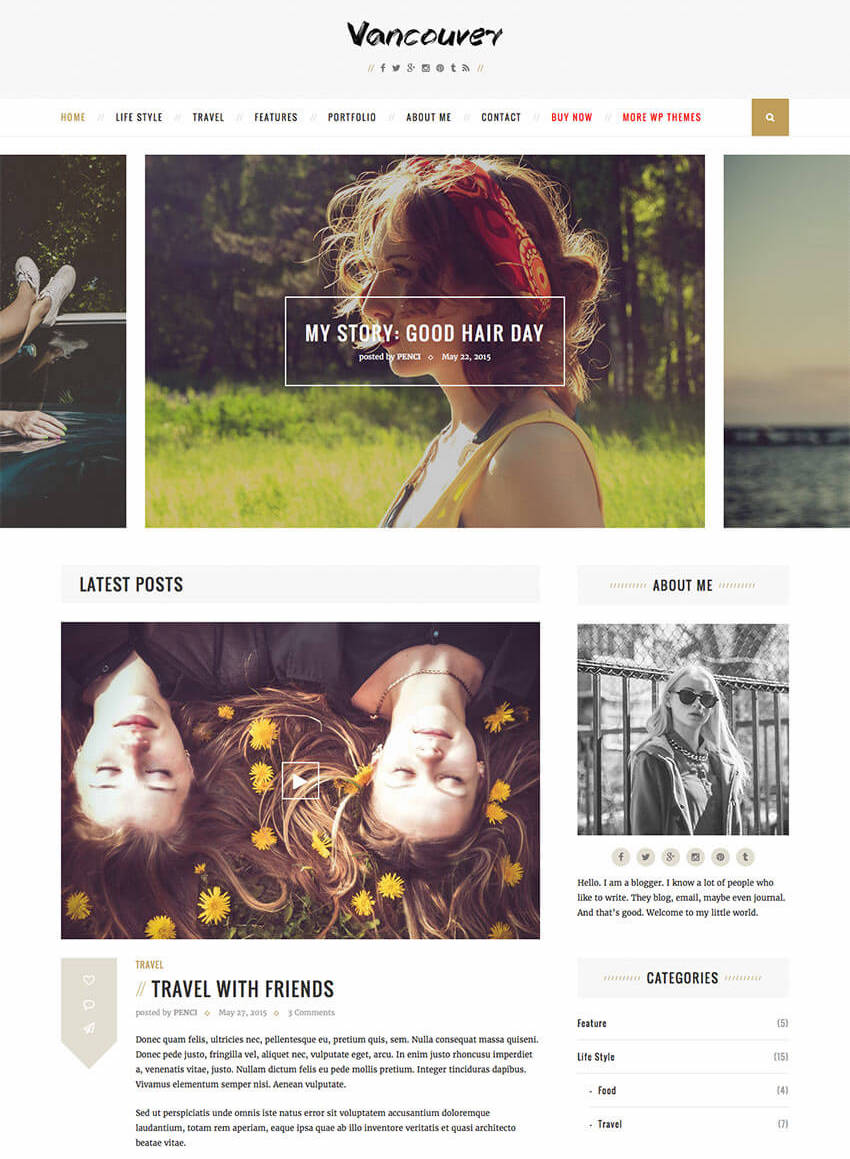 Vancouver - Multiple Layouts WordPress Blog Theme