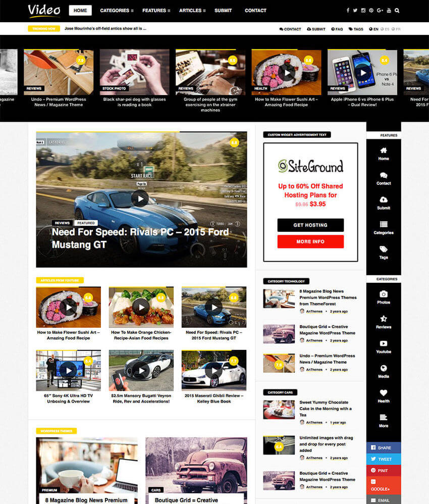 VideoNews - WP Magazine Theme