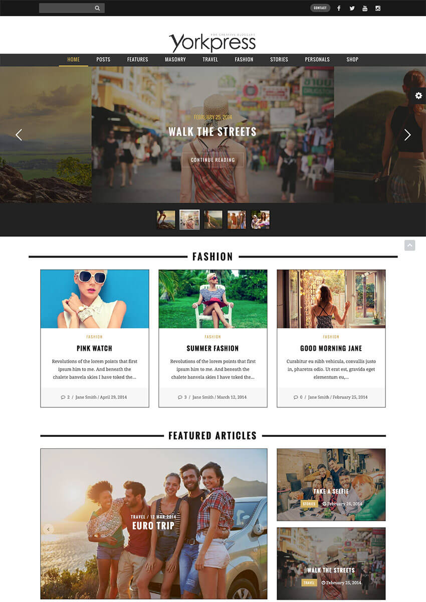 YorkPress Creative WordPress Blog Template
