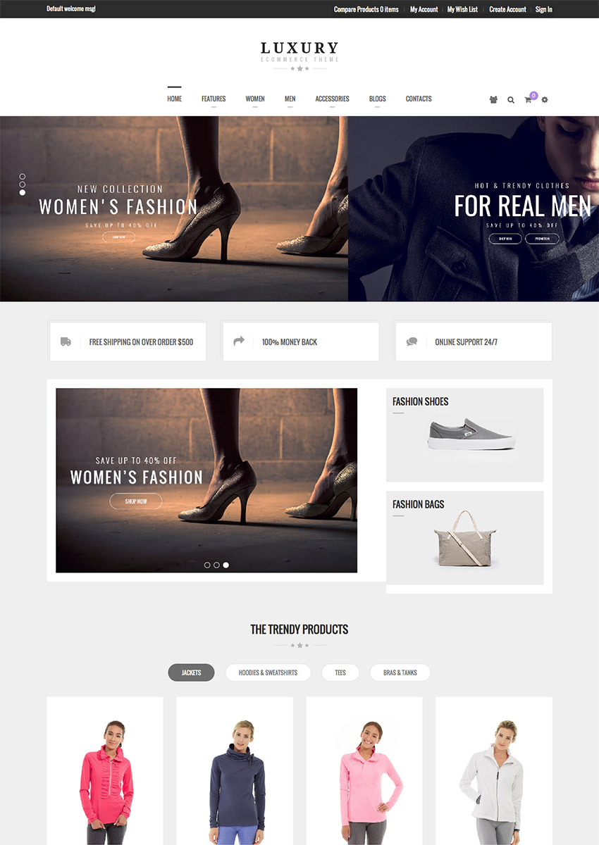 Luxury - New 2016 Magento eCommerce Site Template