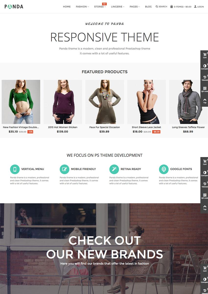 Panda 2016 Modern Prestashop Site Template