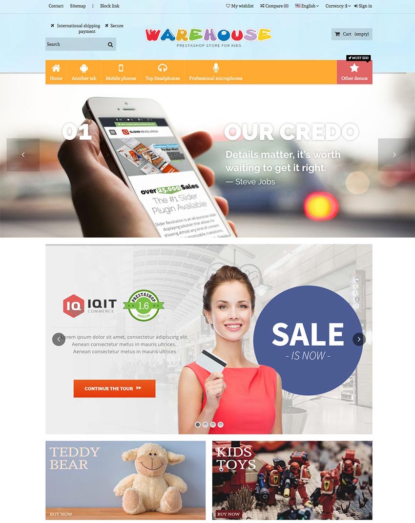 Warehouse - eCommerce Prestashop Theme 2016