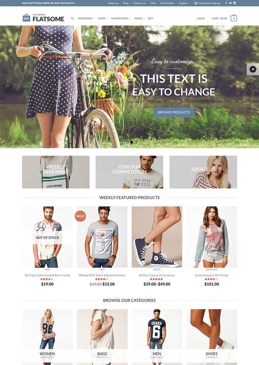 Flastome tema para WooCommerce