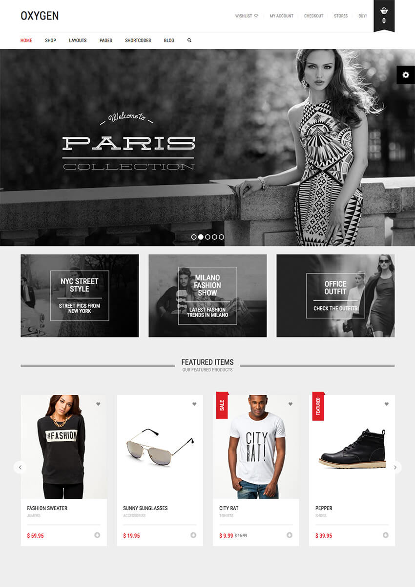 Plantilla WooCommerce Minimalista, WordPress