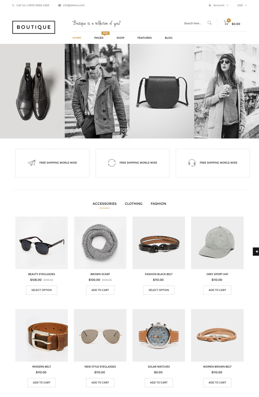 Boutique Shopify theme