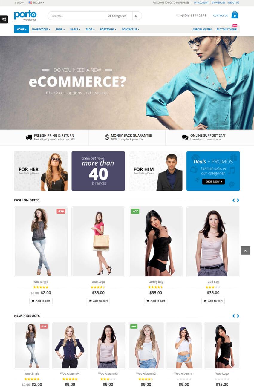 Porto WooCommerce eCommerce Theme